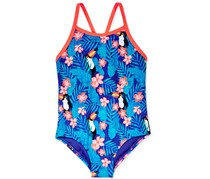 Roxy Girl's Tropics Swimsuit, Blue