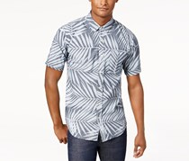 Ezekiel Men's Coronado Palm-Print Shirt, Grey