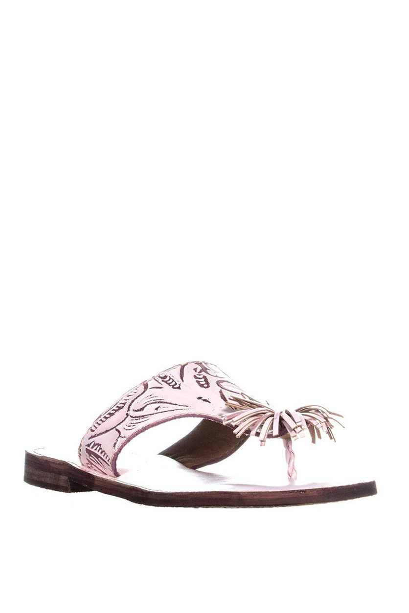 Womens Franca Sandals, White/Pink
