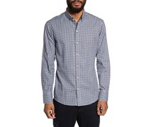 Zachary Prell Men's Slim Fit Check Sport Shirt, Kapur Burgundy