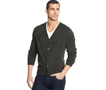 Weatherproof Men's Cardigan Sweater, Dark Green Heather