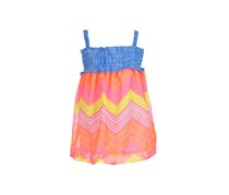 Funny Bunny Baby Girls' Dress, Blue/Red/Yellow