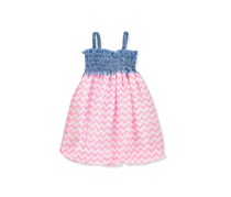 Funny Bunny Baby Girls' Dress, Blue/Pink