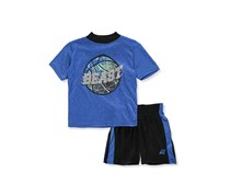 Pro Athlete Baby Boys 2 Set Short Outfit, Blue/Black