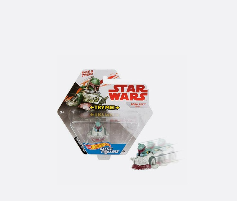 Hot Wheels Star Wars Battel Rollers Boba Fett Slave 1 Vehicle, Combo