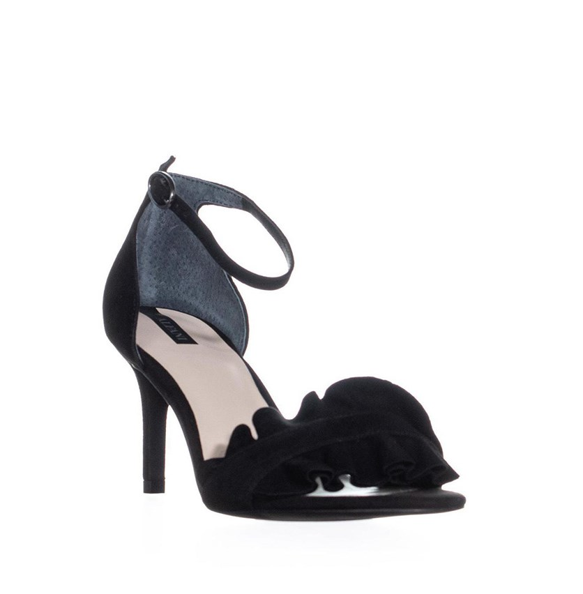 Womens Grayy Dress Sandals, Black Suede