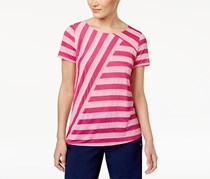 G.H. Bass & Co. Mixed Stripe Knit Top, Pink