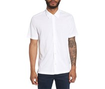 Theory Air Pique Pull-Through Slim Fit Polo Shirt, White