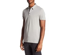 Theory Men's Bound Placket Polo, Grey
