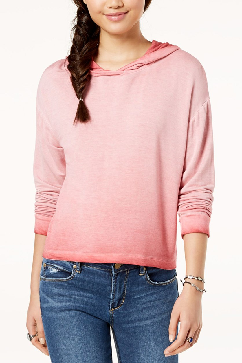 Juniors Long Sleeve Hoodie, Coral Dream