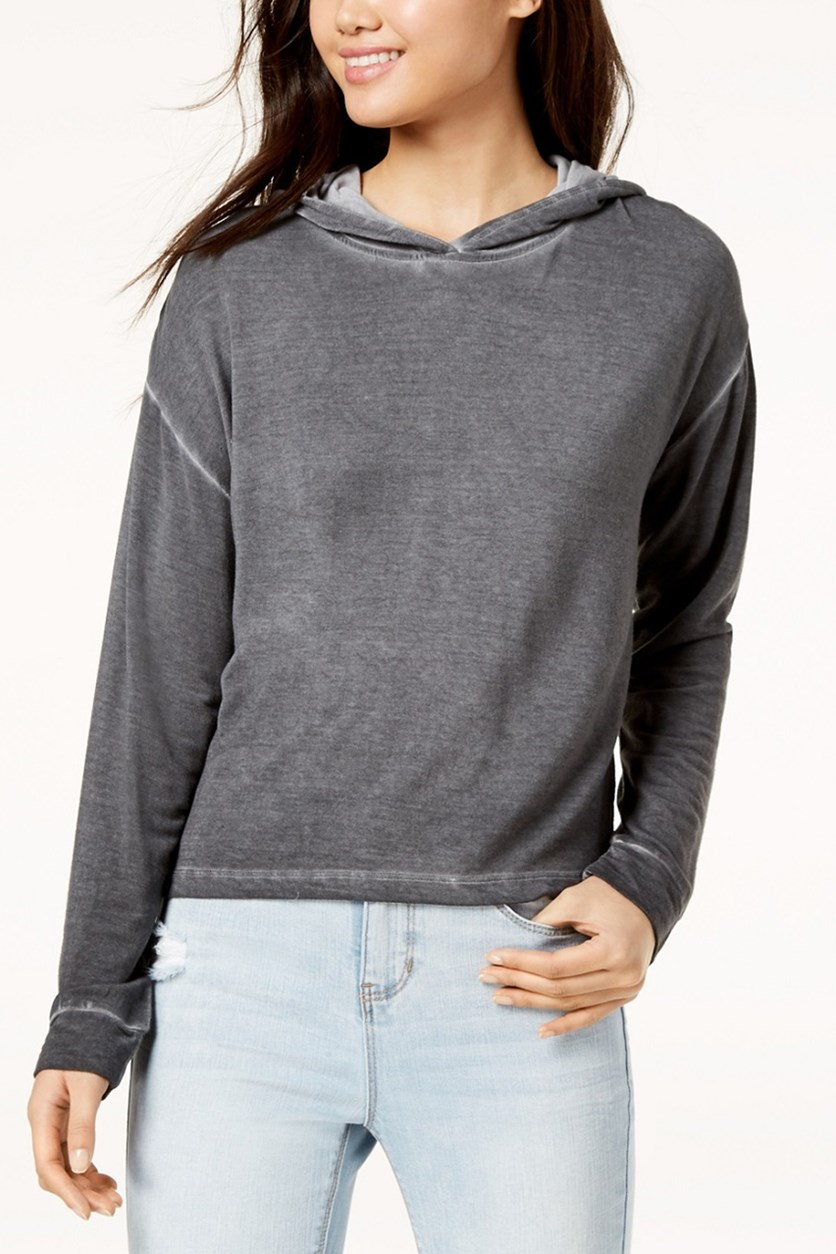 Juniors Ombre Hoodie, Washed Charcoal
