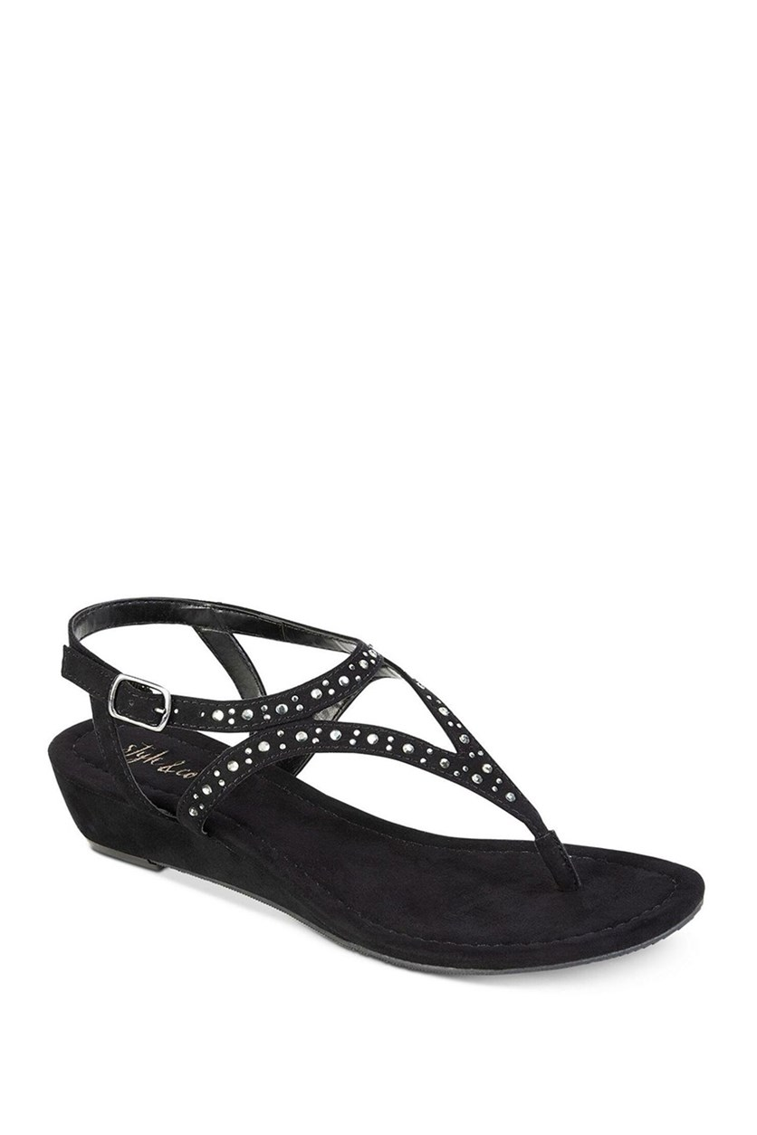 Women Hareet Wedge Sandals, Black