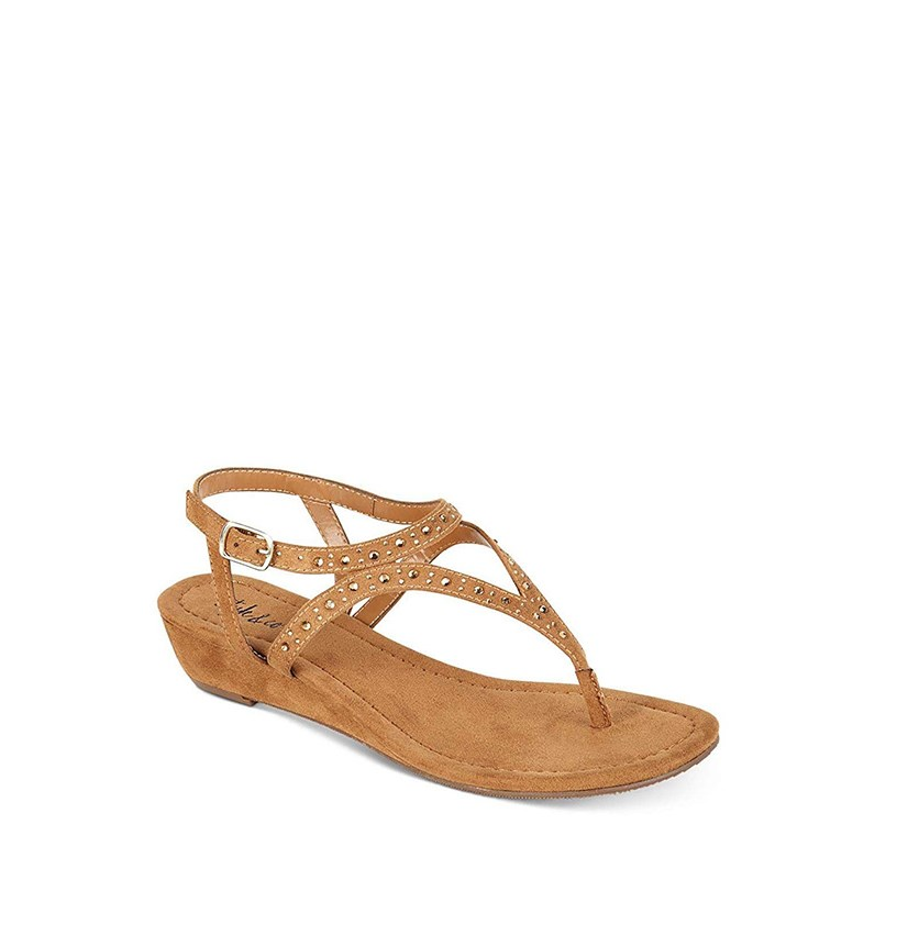 Women Hareet Wedge Sandals, Caramel