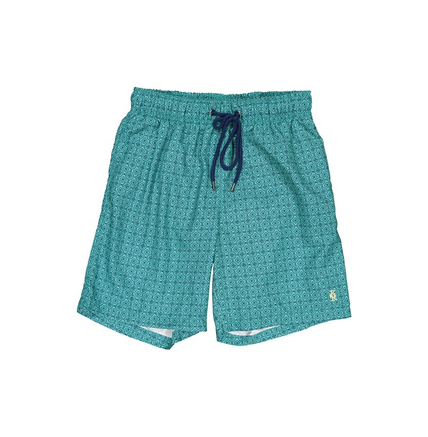 IKE By Ike Behar Men's Printed  Swim Trunks, Habitat