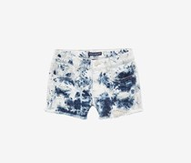 Vanilla Star Crochet-Trim Denim Shorts, Extreme Blue