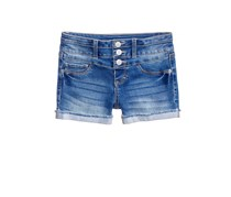 IMPERIAL Star Stacked Triple-Button Denim Short, Carson Blue