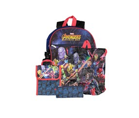 Kids Boys  5-Pc. Avengers Backpack, Blue Combo