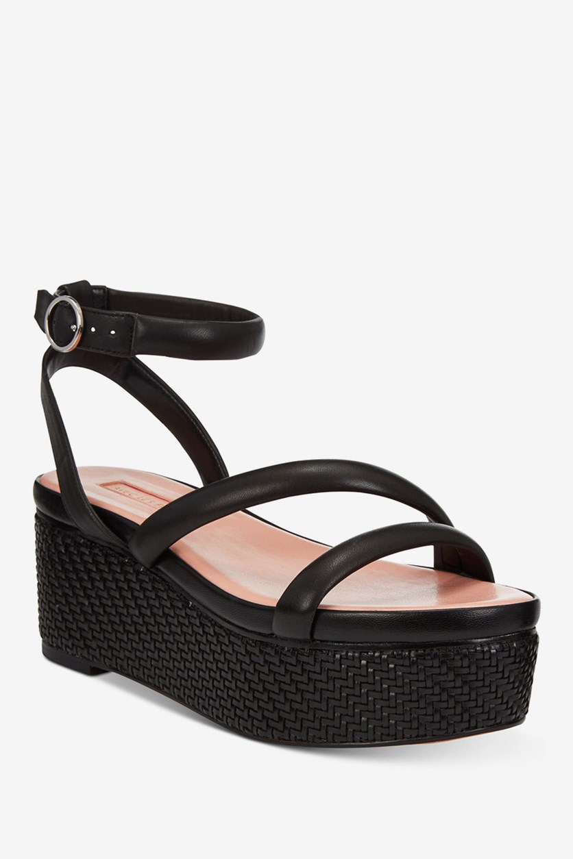 Women's Ava Flatform Wedge Sandals, Black