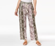 Juniors' Printed Pull-On Pants, Bisque/Lilac