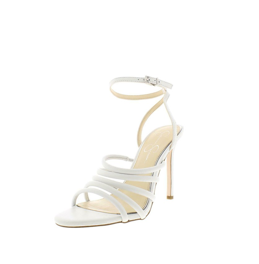 Joselle Dress Sandals, White