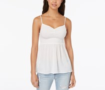 Crave Frame Juniors Smocked Cami Top, White