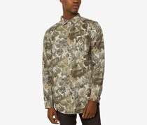 Jaywalker Men's Back-Zip Camo Shirt, Camo/Olive