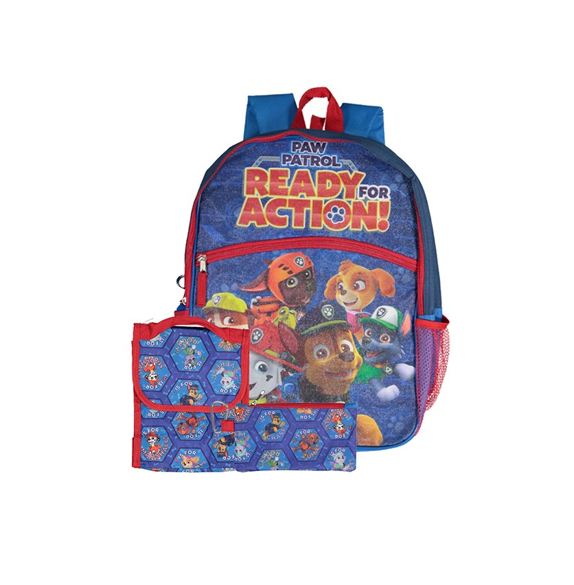Kids 5-Pc. Paw Patrol Backpack, Blue/Red