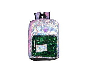 Kids Girls Reversible Sequins Mermaid Backpack, Purple/Green Combo