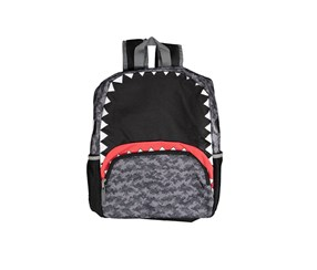 Kids Boys Camo Shark Backpack, Black Combo