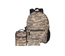 Kids Boys 5-Pc. Camo-Print Backpack, Camouflage Brown Combo