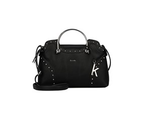 Kensie Women's Nico Satchel, Black