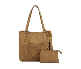 Kensie Women's Jill Tote Bag, Saddle