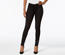 Kut from the Kloth Diana Embroidered Skinny Jeans, Black