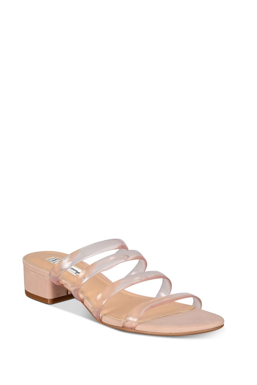 I.n.c Women's Lamia Block-Heel Sandals, Blush Clear