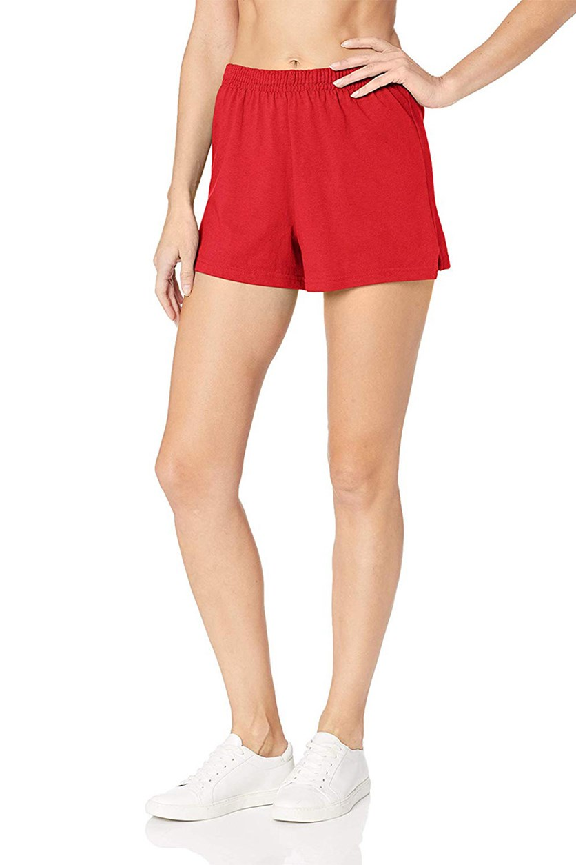 Women's Plus Yoga Fitness Shorts, Red