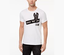 GUESS Mens Graphic-Print T-Shirt, Brilliant White