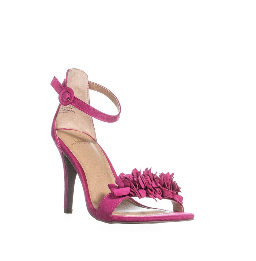 Blossom Dress Sandals, Fuchsia