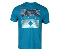 Hurley Men's Crimson Day Graphic-Print T-Shirt, Heather Cyan