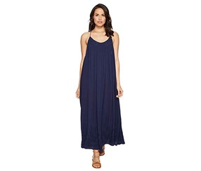 Free People Elaine Embroidered Maxi Dress, Navy