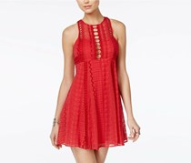 Free People Women's Wherever You Go Minidress, Red