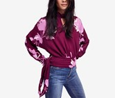 Women's Free People Say You Love Me Blouse, Plum