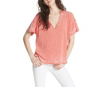 Free People Maddie Oversized Burnout T-Shirt, Coral