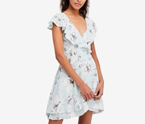 Free People French Quarter Ruffled Wrap Dress, Turquiose