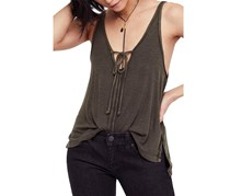 Free People Scarlett Lace-Up Twist-Strap Tank Top, Olive