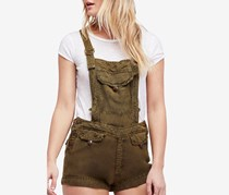 Free People Women's Expedition Short Overalls, Army