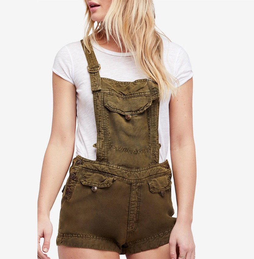 Women's Expedition Short Overalls, Army