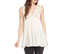 Free People Embroidered Sleeveless Top, Ivory