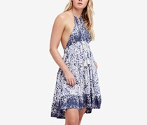 Free People Beach Day Halter Dress, Ivory/Navy