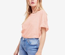 Free People Women's Alex Cutout Tee, Rosemoon
