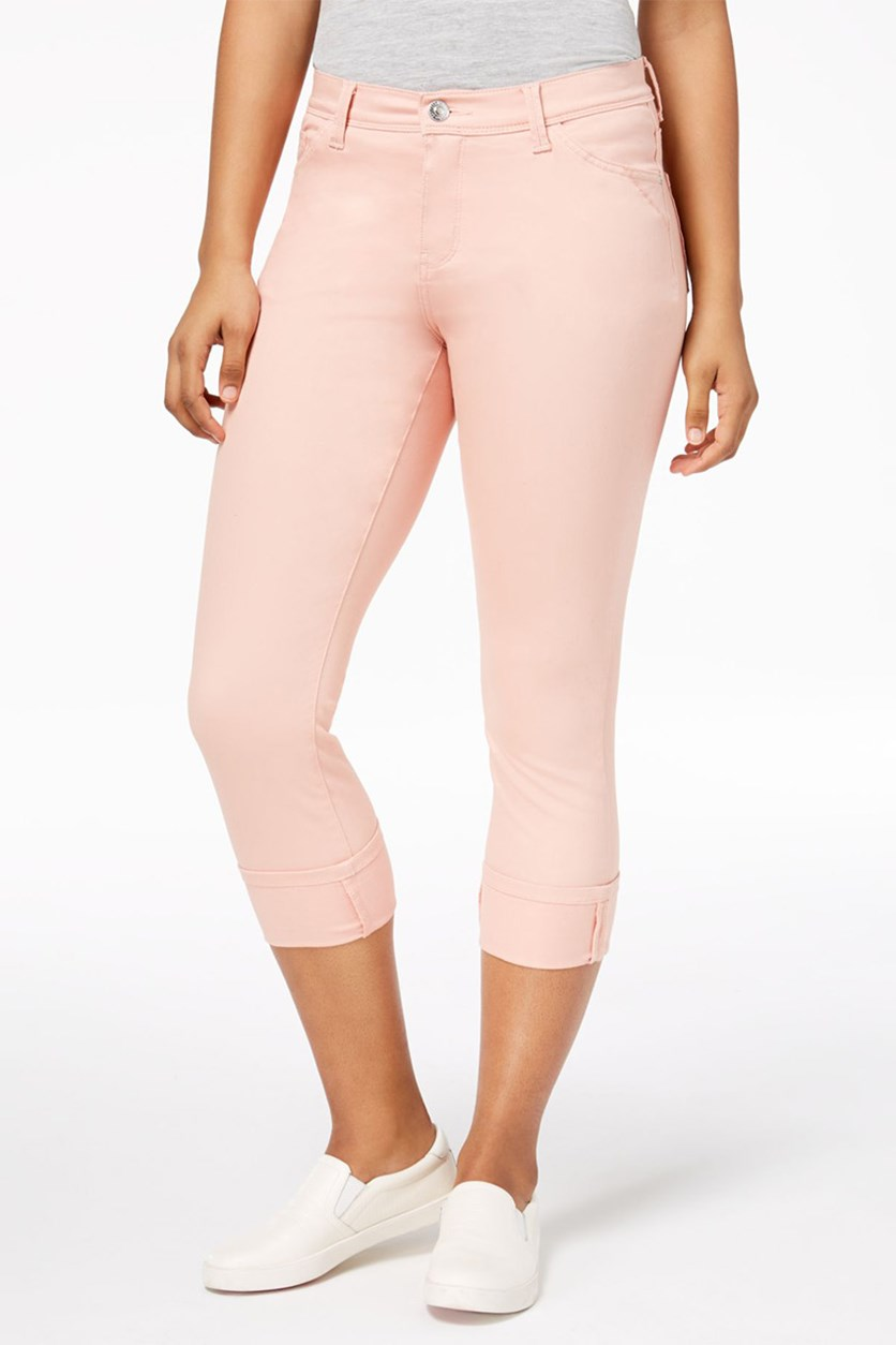 Kyla Capri Pants, Coral Cloud
